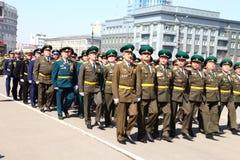 военный парад стоковая фотография