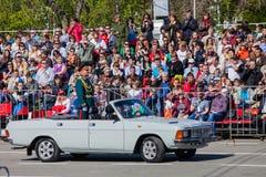 Военный парад во время торжества дня победы Стоковые Фото