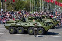 Военный парад во время торжества дня победы Стоковая Фотография RF