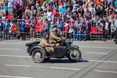 Военный парад во время торжества дня победы Стоковая Фотография