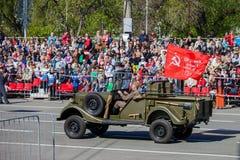 Военный парад во время торжества дня победы Стоковое Изображение