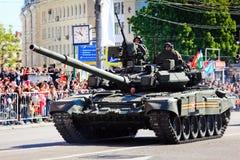 Военный парад в Москве на девятое -го май Стоковое Фото