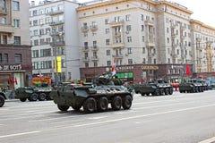 Военный парад в Москве стоковая фотография