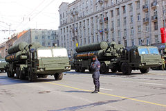 Военный парад в Москве стоковое фото
