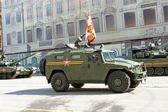 Военный парад в Москве стоковые фотографии rf