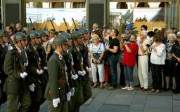 Военный парад в почетности Оттона von Habsburg Стоковое Изображение