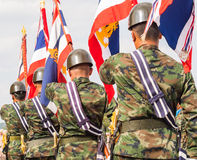 Военный парад королевского тайского военно-морского флота стоковое фото