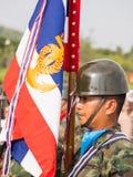 Военный парад королевского тайского военно-морского флота стоковое фото rf