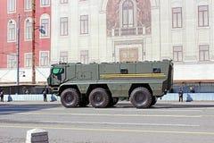 Военный парад предназначил к дню победы в Второй Мировой Войне в Mosc Стоковое фото RF