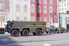 Военный парад предназначил к дню победы в Второй Мировой Войне в Mosc Стоковая Фотография