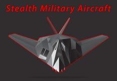 Военный самолет скрытности также вектор иллюстрации притяжки corel Стоковое Изображение RF
