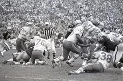 Вожди Kansas City против рейдовиков 1969 Окленд Стоковые Изображения RF