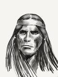 Вождь коренного американца стоковое изображение rf