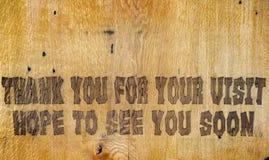 возблагодарите посещение вы ваши Стоковые Изображения RF