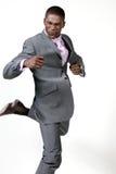 возбужденный бизнесмен Стоковое фото RF