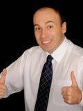 возбужденный бизнесмен Стоковое Фото