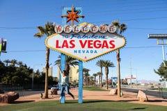 Возбужденный в Лас-Вегас стоковые изображения rf