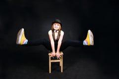 возбужденный клоун Стоковые Фотографии RF