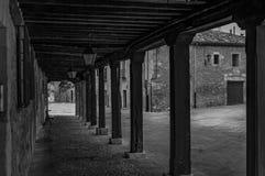 Возвращение в прошлый, черно-белое изображение стоковое фото rf