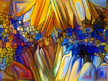 Возвращение цветного стекла Стоковая Фотография