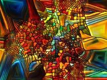 Возвращение цветного стекла Стоковое Фото