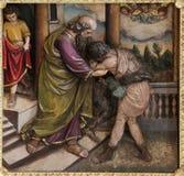Возвращение prodigal сына стоковые изображения rf