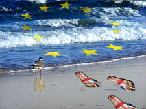 Возвращенная Великобритания на своем побережье Стоковые Фото