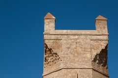 Возвышайтесь на входе к Chellah, Рабату, Марокко Стоковое Фото