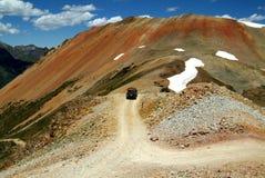 возглавленный красный цвет горы к Стоковые Изображения