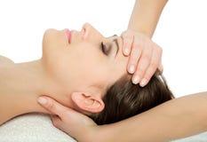 возглавьте массаж Стоковые Изображения RF