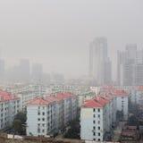 воздух над городком загрязнения Стоковая Фотография RF