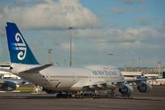 Воздух Новая Зеландия Боинг 747 стоковое изображение rf