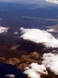 воздушная вода ландшафта земли облаков Стоковое Изображение RF