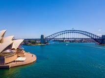 Воздушная панорама гавани Сиднея Стоковые Изображения RF
