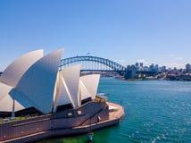 Воздушная панорама оперного театра Сиднея Стоковая Фотография