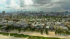 Воздушная панорама Miami Beach FL США сток-видео