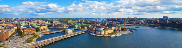 воздушная панорама stockholm Швеция Стоковые Фотографии RF