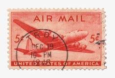 воздушная почта штемпелюет нас Стоковое Фото