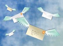 воздушная почта иллюстрация вектора
