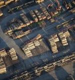 воздушная промышленная древесина взгляда хранения Стоковое Изображение