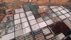 Воздушная промышленная картина, поле продукции соли акции видеоматериалы