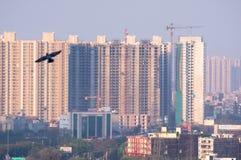 Воздушная съемка офисов домов небоскребов в gurgaon Дели noida стоковая фотография rf