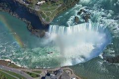 Воздушная съемка падений Ниагарского Водопада Онтарио подковы Стоковые Фото