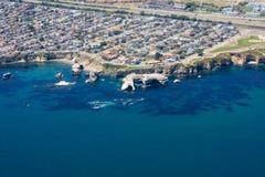 Воздушная съемка свободного полета Калифорния и хайвея 1 Стоковое Фото