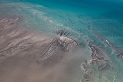 Воздушная съемка с залива Roebuck, Broome, западной Австралии, Австралии стоковые изображения rf