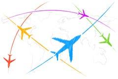 воздушная трасса иллюстрация штока