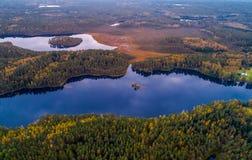 Воздушная фотография озера стоковые фото
