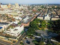 Воздушная церковь собора Сент-Луис квадрата Джексона в новом Orlean Стоковая Фотография