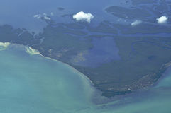 воздушнодесантный взгляд острова Стоковая Фотография RF