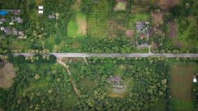 Воздушное взгляд сверху взгляд сверху дороги Стоковые Фотографии RF